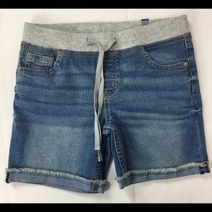 NWT Justice Girls SZ 12 Denim Blue Jean Shorts